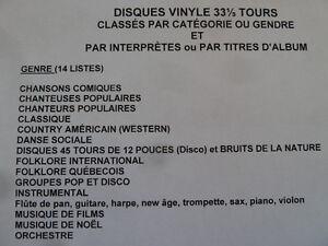 Disques vinyle pour collectionneurs (état neuf)