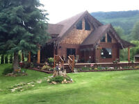 2109 Solsqua Rd, Sicamous--Exceptional Log Home on Eagle River