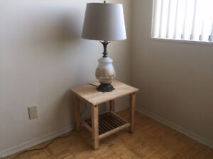 Vintage lamp / side table -FREE DELIVERY
