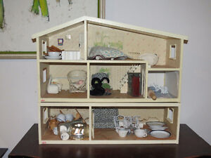 Children's Antique Wood Doll Houses- 2 for 1 FREE Doll Furniture