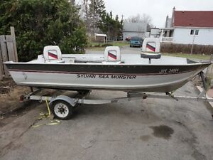 16foot Sylvan Sea Monster + trailer