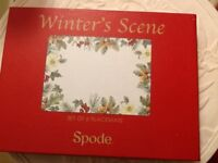 🍂🍁🍃 6 Brand new Spode winters scene place mats boxed