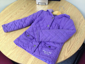 Lavender quilted cotton coat w/hood; excellent condition; sz 5 Peterborough Peterborough Area image 1