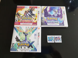 Pokemon 3DS Games - Moon, Omega Ruby, Alpha Sapphire, X, Y
