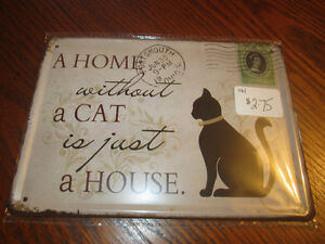 Cat and Dog collectible tin signs