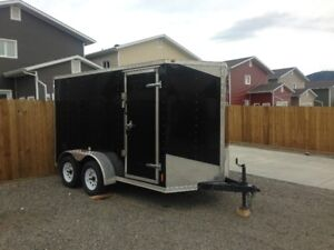 2016 -  6x12 V- Nose tandem axle utility trailer for sale