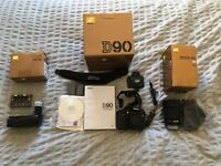 Nikon D90 with 18-105mm lens and MBD80 batter pack and more!