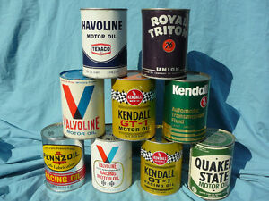 Vintage RACING oil cans