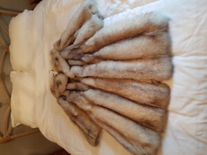 Stunning Silver Fox Fur Coat