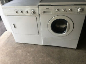 "Kenmore white 27"" apartment size washer electric dryer stackable"