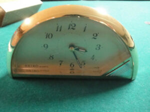 SEIKO QUARTZ BRASS CLOCK WITH ALARM