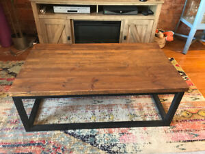 Custom Made Reclaimed Coffee Table & Matching  Bar Table/Stools