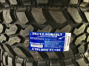 New LT tires, M/T and A/T available.