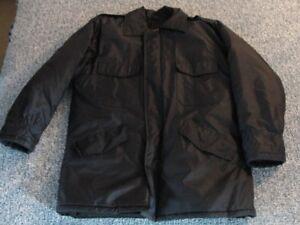 Men's black winter coat