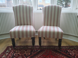 Vintage slipper chairs