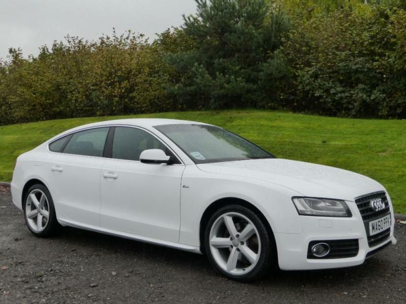 AUDI A SPORTBACK TDI S LINE White Manual Diesel In - White audi a5