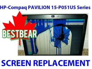 Screen Replacement for HP-Compaq PAVILION 15-P051US Series Laptop