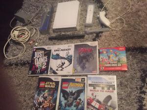 Nintendo wii avec plusieurs jeux