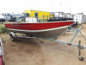 16' Lund boat with accessories and 9.9HP Honda