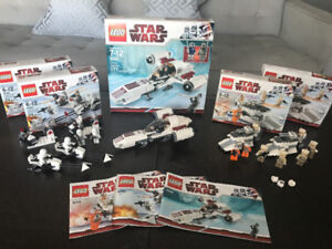 Star Wars Lego Sets - 8083 (x2), 8084 (x2), and 8085
