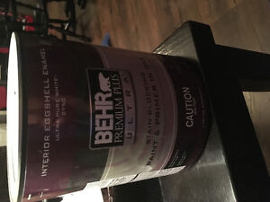 2 brand new cans of BEHR paint armadillo colour