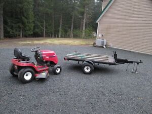 Toro xl-420   rider and trailer