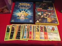 Pokemon DVDs and cards