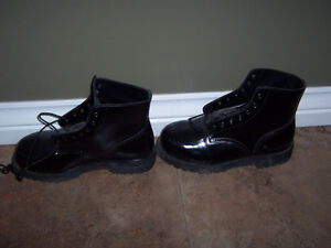 black boots steel toes