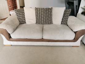 3 seater large sofa in cream