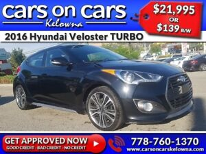 2016 Hyundai Veloster TURBO TECH w/Leather, Sunroof, Navi $139B/