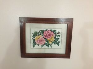 Wall cross stitch picture frames