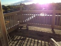 CLEAN, PEACEFUL,QUIET.SUNNY.PVT DECK,AMAZING VIEW, ALL INCLUES