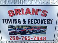 Brians Towing & Recovery  250-765-7848