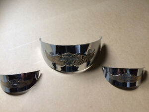 Headlight and driving light chrome visors