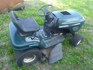 Old craftsman rider mower