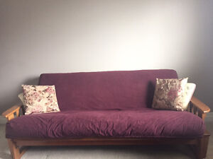 Sofa Size Solid Wood Futon almost new
