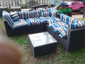 Outdoor Wicker sectional Sofa Set gfw