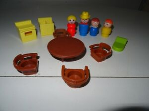 Ancien Fisher Price Play Family House Kitchen Maison Cuisine 729