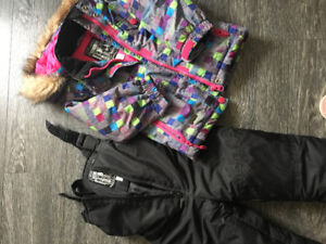 Baby girl  snow pants and winter jacket size 2/3