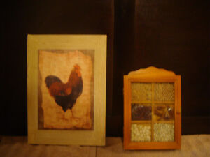 Chicken, Rooster,  spice key rack, decor items!!