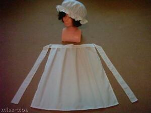 LADIES-FANCY-DRESS-COSTUME-SHORT-APRON-MOP-CAP-victorian-tudor-edwardian-WW1