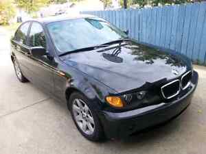 2002 bmw 325i, black  for trade/swap