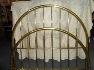 BRASS queen size headboard and footboard