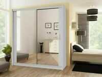 🔵💖🔴EXPRESS FAST DELIVERY🔵💖🔴Berlin 2 Door Sliding Mirror Wardrobe -- Cheapest Price -- Same Day