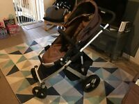 Brio sing travel system inc isofix base and car seat