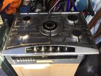 Neff 5 ring gas hob and Neff extractor