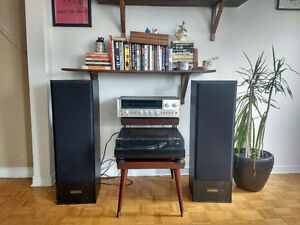 Vinyl Sound System- Turntable, Stereo Receiver, Speakers