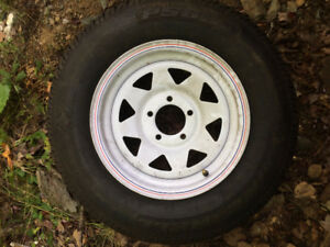 Tire with Wheel for sale. Never used.
