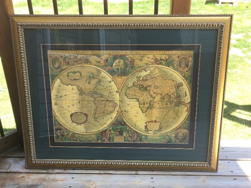 Framed gold foil northwood collection world maps picture art home framed gold foil northwood collection world maps picture art home dcor accents edmonton kijiji gumiabroncs Choice Image