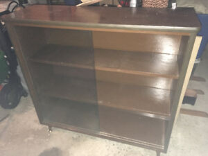 Bookcase, medium size with glass sliding doors